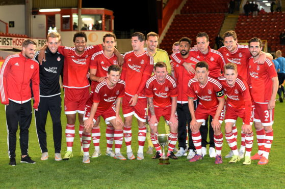 The Dons with the Energy Cities Community Cup