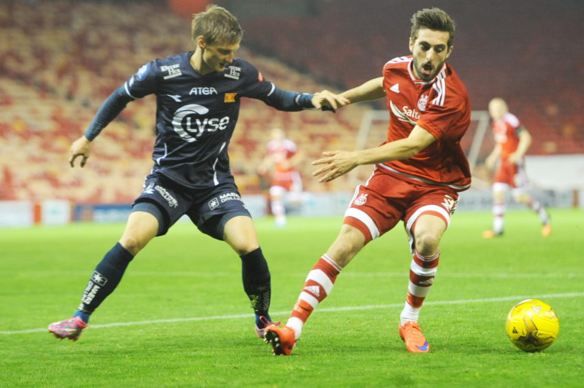 Aberdeen's Graeme Shinnie and Viking FK Andre Danielsen
