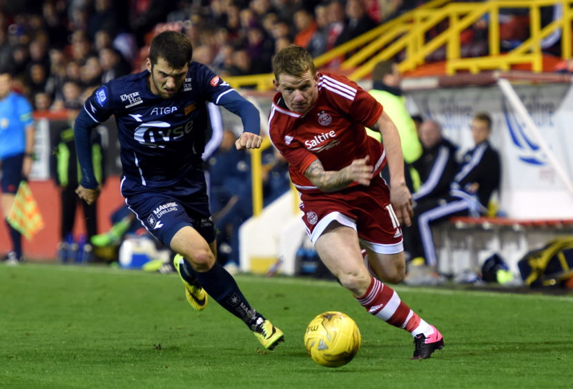 Jonny Hayes and Andre Danielsen.Picture by Jim Irvine   8-9-15