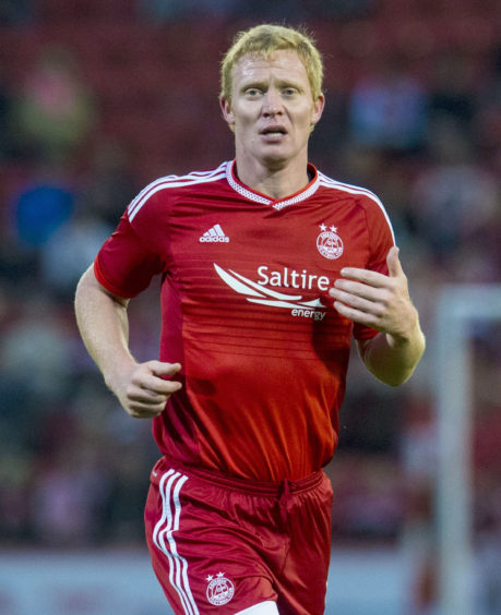 Aberdeen's Barry Robson in action