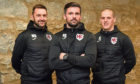 Picture of (L-R) Keith assistant Michael Brown, manager Dean Donaldson and assistant Jamie Lennox when they were appointed. Picture by Kenny Elrick