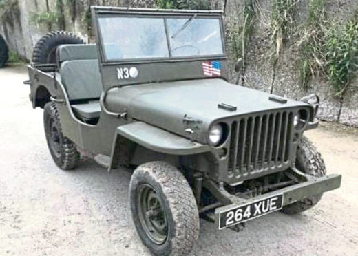 The stolen Willy's jeep