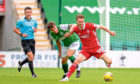 Marley Watkins, right, in action for Aberdeen