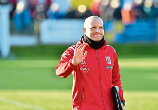 Inverurie's manager Andy Low.  Picture by Scott Baxter