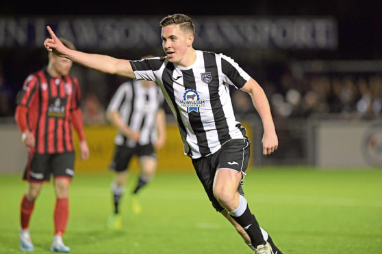 Paul Campbell scored for Fraserburgh in the 2020 Aberdeenshire Shield final