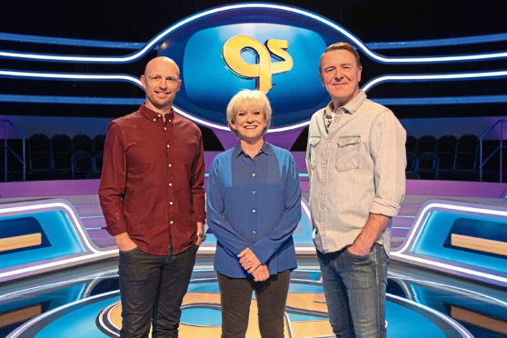 Sue Barker with Matt Dawson and Phil Tufnell.
