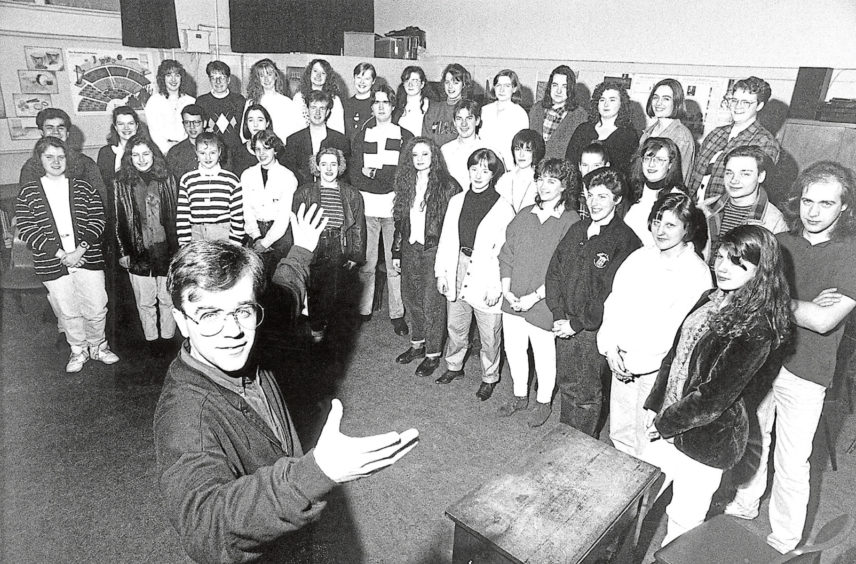 1992: These young singers from throughout the North-east were in fine voice at a choral workshop at Harlaw Academy. They were hoping to join the Aberdeen Youth Choir for the Aberdeen International Youth Festival and were being put through their paces by Christopher Bell, front, chorus master of the RSO Chorus.
