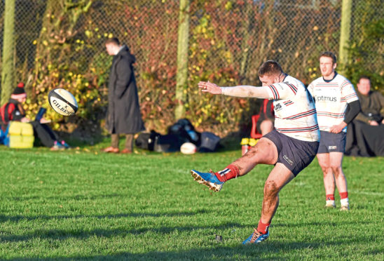 Aberdeen Grammar in action.  Picture by Paul Glendell