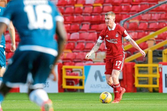 Aberdeen midfielder Jonny Hayes.