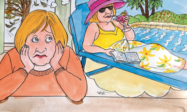 Moreen's Majorcan dream of sun, sea, sand – and slimming – has been dashed by the pandemic