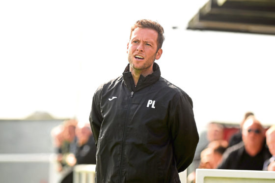 Formartine United manager Paul Lawson. Picture by Kenny Elrick