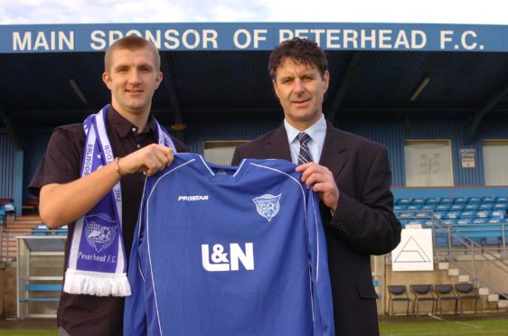Bobby Mann with Steve Paterson during their time at Peterhead