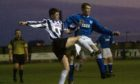 Former Peterhead defender Steve King (right) in action against Elgin City