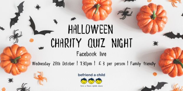 Befriend a Child will run the event via Facebook Live on Wednesday October 28