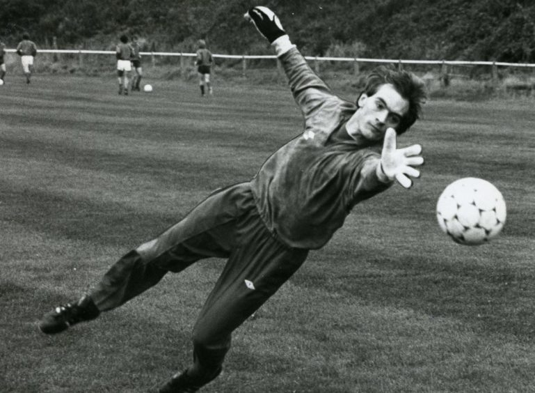 Jim Leighton after he was called into the Scotland squad for the first time in 1982.
