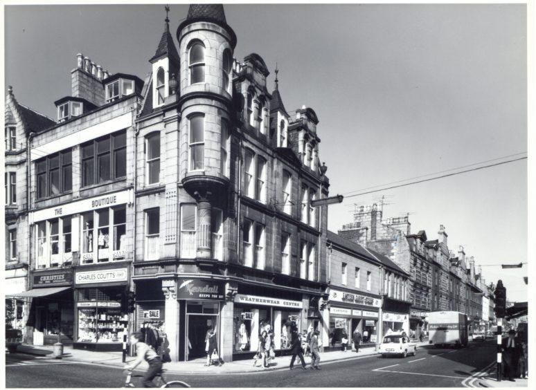 Corner of George Street and Schoolhill - 1975