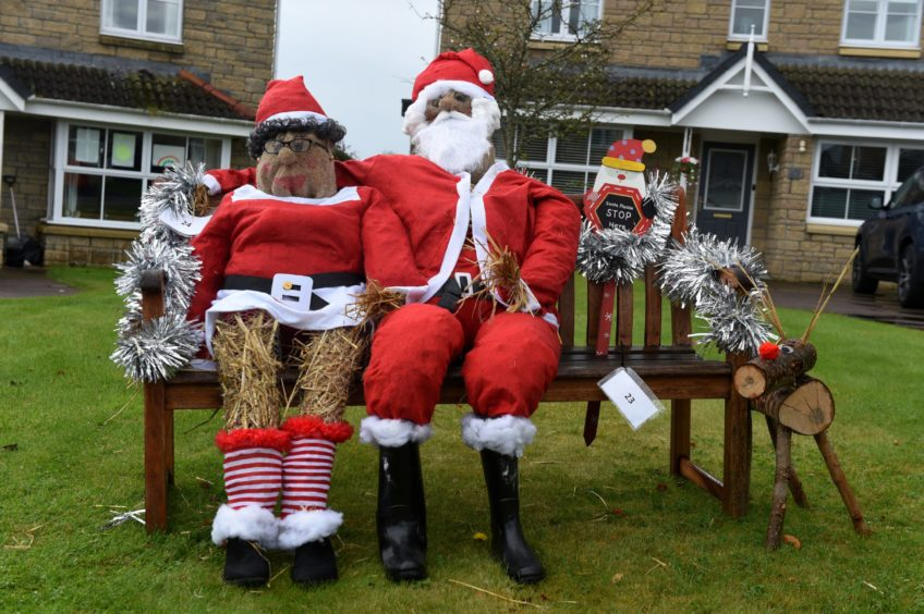 Santa and Mrs Claus have arrived for the festival. Picture by Kenny Elrick