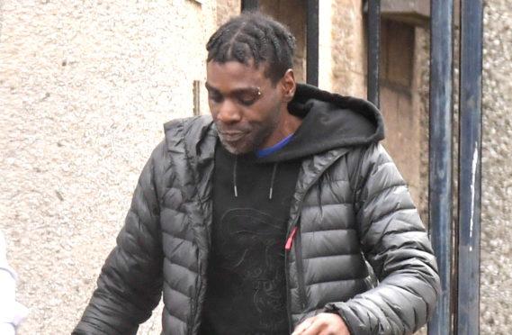 Leon Smith leaving court.