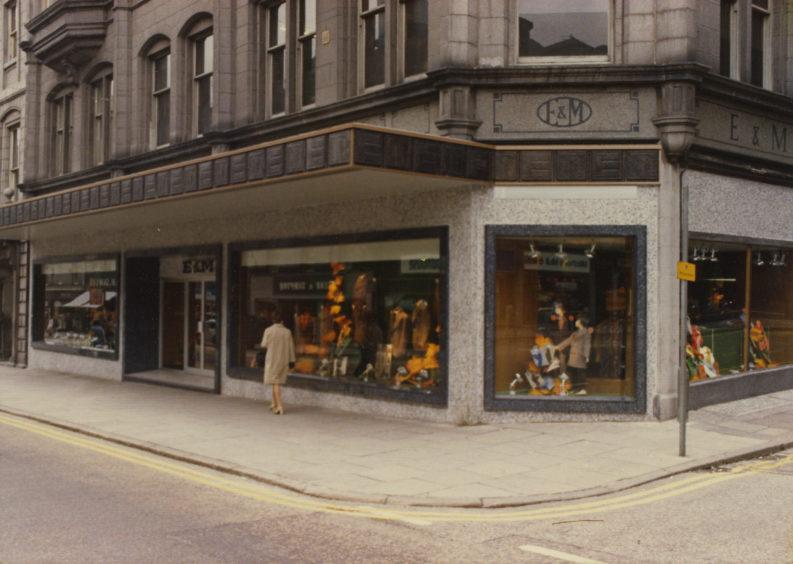 E&M's, Union Street - 1974