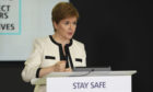 First Minister speaking during her daily coronavirus briefing.