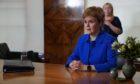 Nicola Sturgeon addresses the nation. Edinburgh. Courtesy Scottish Government Date; 22/09/2020