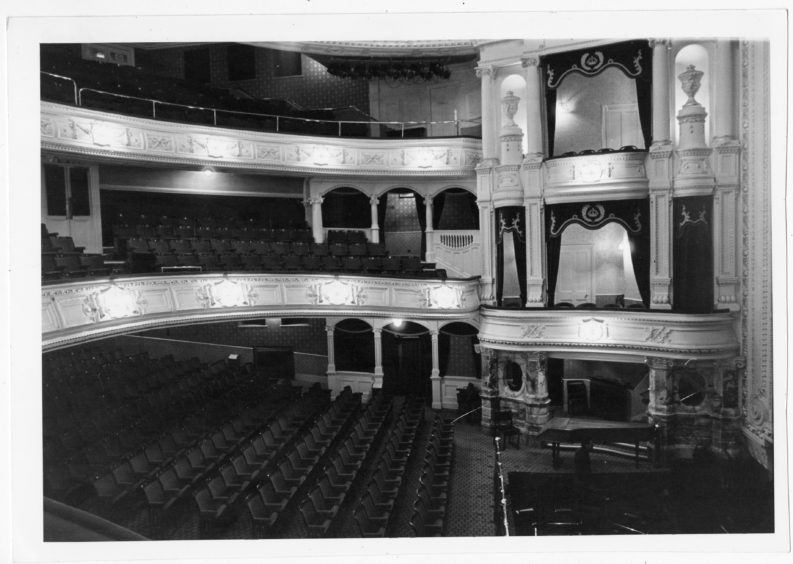 1985: Interior picture of His Majesty's Theatre, Aberdeen.