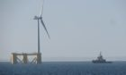 The site of the Kincardine Offshore Wind Farm