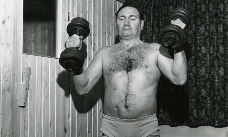 Legendary Scottish wrestler George Kidd in January 1975.