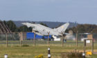 An RAF Typhoon being launched today