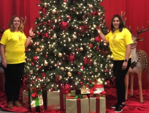 Lynne Brooks of The ARCHIE Foundation, left, and Charlotte Garvie of The Christmas Decorators