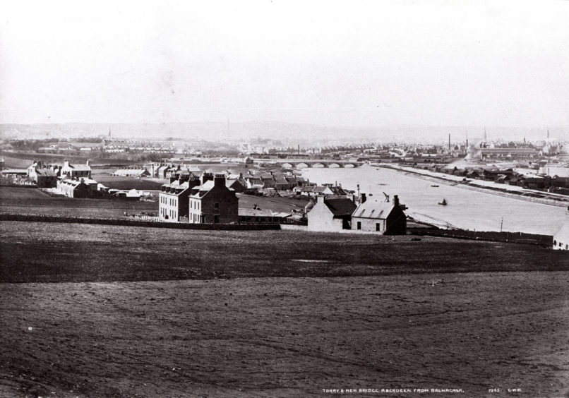 George Washington Wilson 1880s photograph overlooking Old Torry with the new Victoria Bridge in the background. The bridge opened in 1881 enabling direct access between Torry and Aberdeen via Market Street. This, coupled with booming local industries, facilitated the rapid expansion of New Torry in the years that followed.