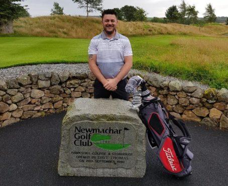 Newmachar Golf Club champion Jamie Wilson.