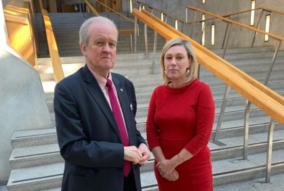 MSPs Stewart Stevenson and Gillian Martin