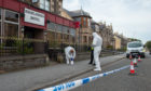 Forensic officers in Buckie.