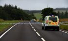Police Scotland at the scene on August 17.  Picture by Kenny Elrick