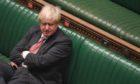 Prime Minister Boris Johnson during prime minister's questions.