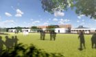 A visualisation of the rear playground at the new Milltimber Primary School.