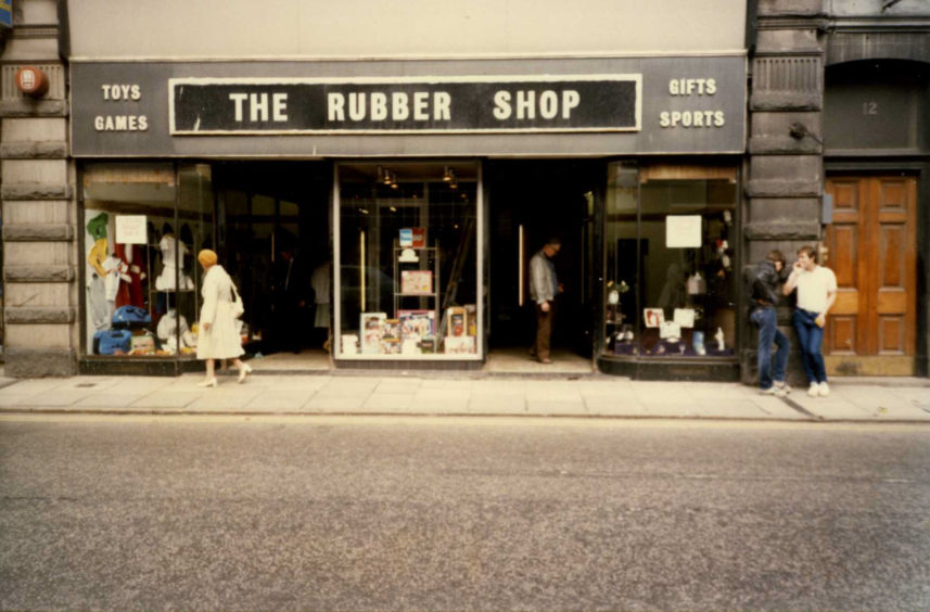 The Rubber Shop on George Street - 1986