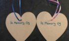 The tags which will be put on a tree at Hazlehead Park