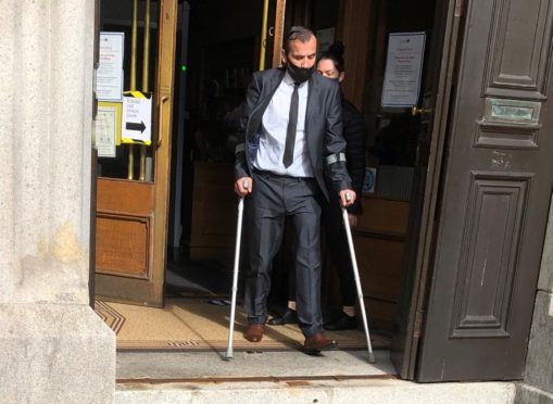 Andrew Whyte leaving court.