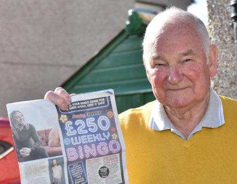 Douglas Coull won £250 on Evening Express bingo