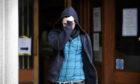 Ross Grant leaving court.