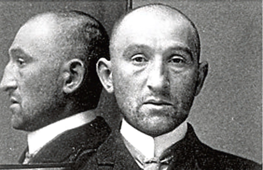 Oscar Slater when he entered Peterhead prison, 1909.