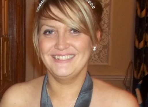 Leighanne Easton, from Premnay near Insch, was diagnosed with a tumour in July 2013