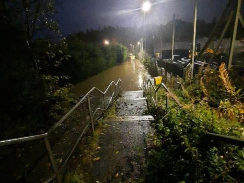 Roads in Ellon, Aberdeenshire, have been affected by flooding (Paul from Ellon/PA)