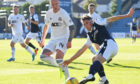Josh Mulligan, right, playing for Dundee during pre-season