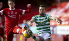 Scott Wright and Shane Duffy tussle during the Aberdeen-Celtic game last weekend.