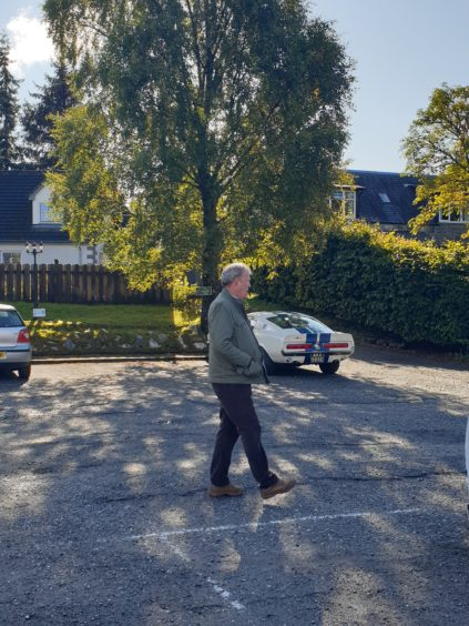 Pictures of The Grand Tour filming in Newtonmore.