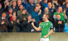 Northern Ireland's Niall McGinn celebrates a goal.