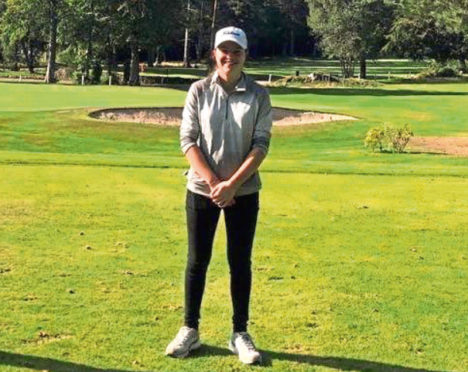 Rachel Mathieson, the new ladies' course record holder at Newburgh-on-Ythan Golf Club.